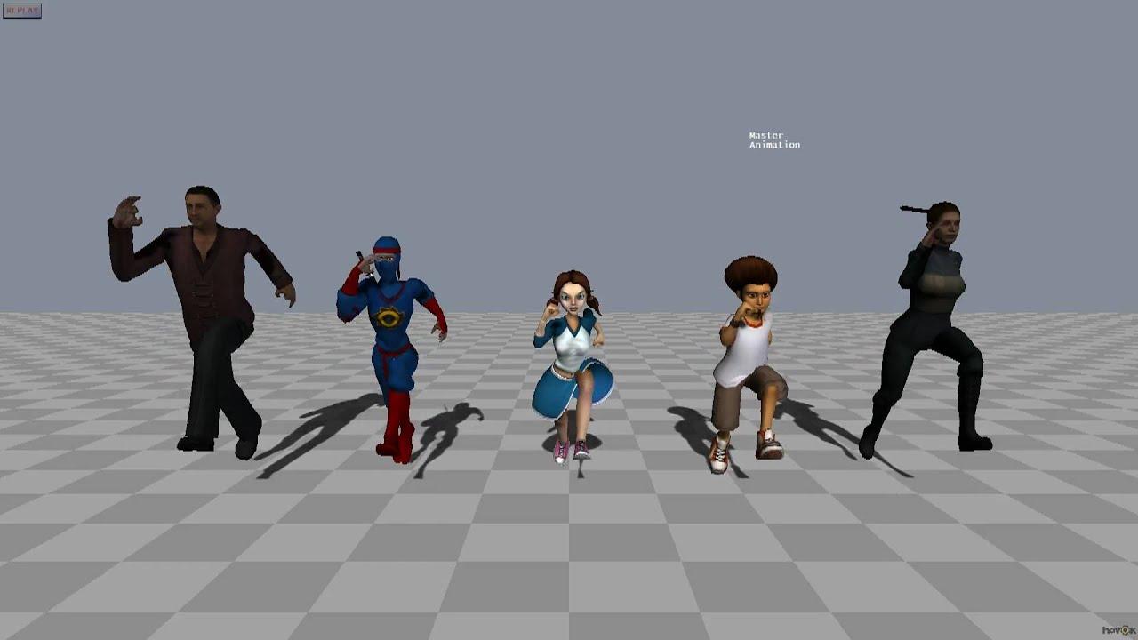 Animation Retargeting havok animation: animation retargeting between several characters