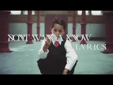 Maroon 5  Dont Wanna Know  ft Kendrick Lamar Lyrics