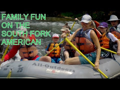 Whitewater Rafting on American River - YouTube