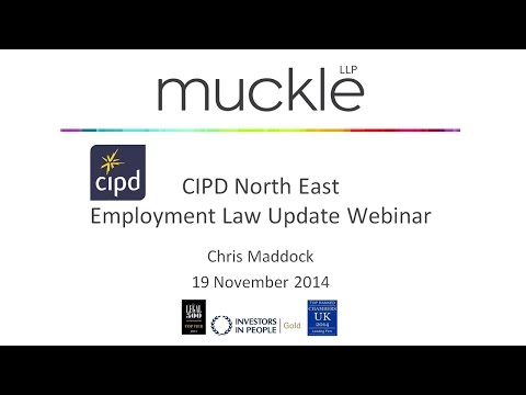 CIPD Annual Employment Law Update