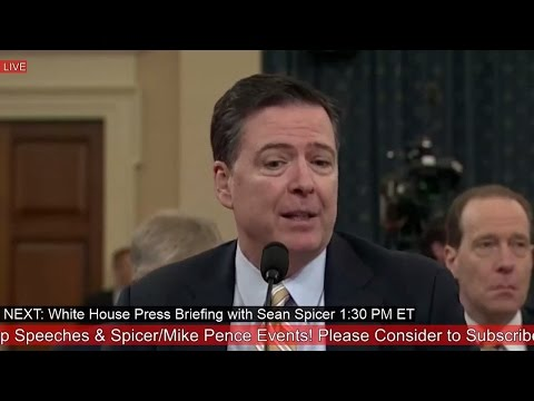 James Comey Testifies On President Donald Trump Wiretapping Claims & Russian Interference Hearing