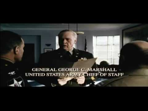 General George C Marshall speech scene at Saving Private Ryan