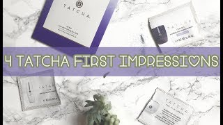 Testing 4 Tatcha Products - Face Cloth, Cleansing Oil, Enzyme Powder & Silk Cream | Teaa With Lee