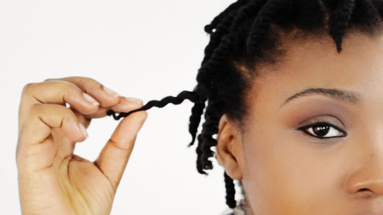 How To 2 Strand Twist Out On Short Natural Hair Tutorial