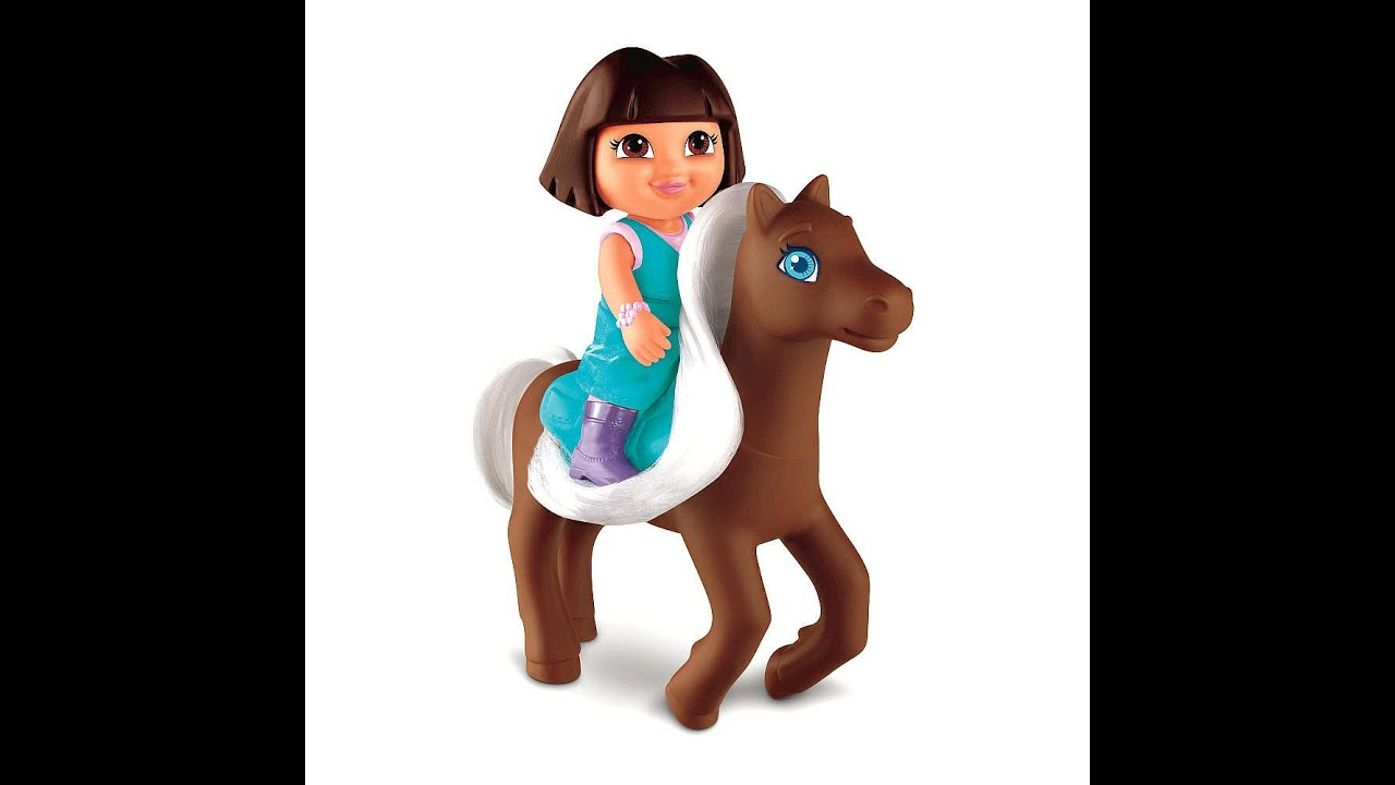dora the explorer and horse toys for kids  youtube - dora the explorer and horse toys for kids