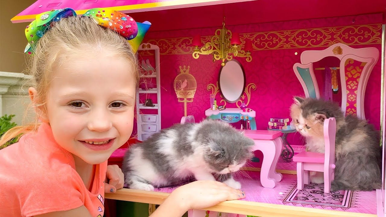 Nastya and the cat - stories about kittens