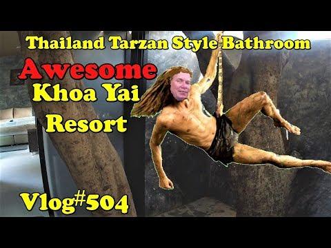 A Thai Bathroom fit for Tarzan Khao Yai เขาใหญ่