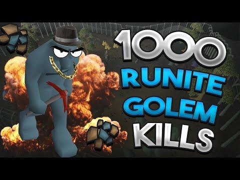 Loot From 1,000 Runite Golems