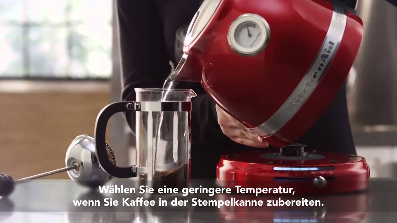 kitchenaid artisan 1 5 l wasserkocher  youtube ~ Wasserkocher Von Kitchenaid