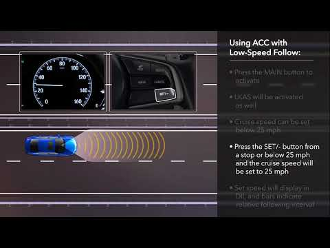 How to Use Adaptive Cruise Control (ACC) with Low-Speed Follow on the 2018 Honda Accord
