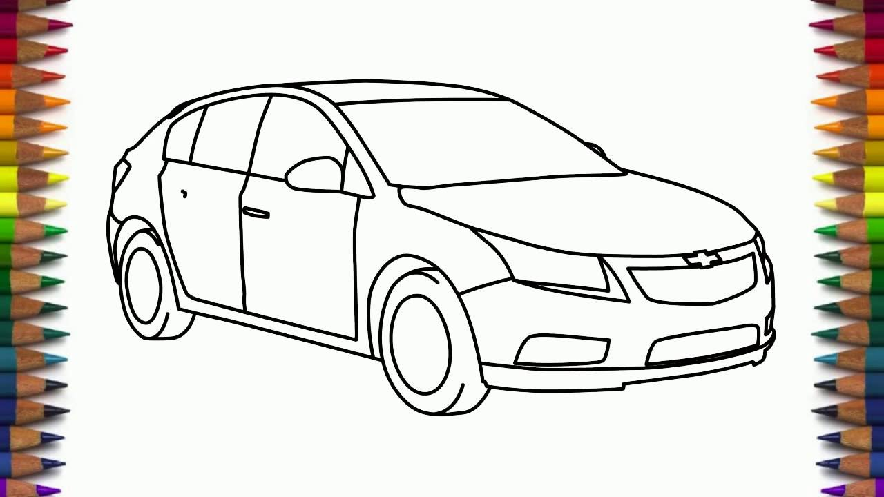 How To Draw Chevrolet Cruze Step By Step Car Drawing Youtube