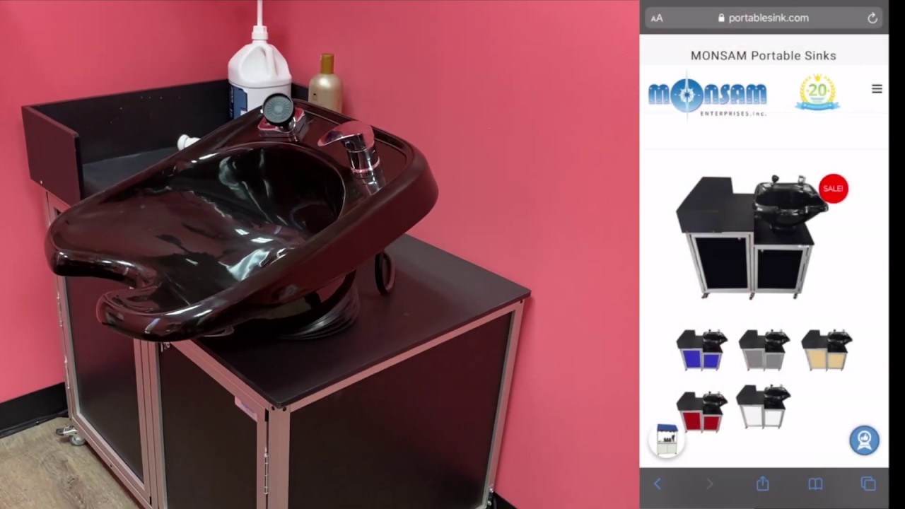 portable shampoo bow sink product review monsam