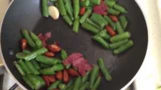 Weight Watchers Friendly Recipe Green Beans With Turkey Bacon And Almonds (2 Points Plus)