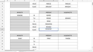 12/15 - 2) Révision des verbes réguliers & irréguliers au présent et au subjonctif