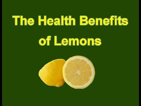 The Health Benefits of Lemons