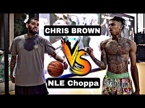 NLE Choppa Vs. Chris Brown!! Intense 3v3 Basketball Game!!