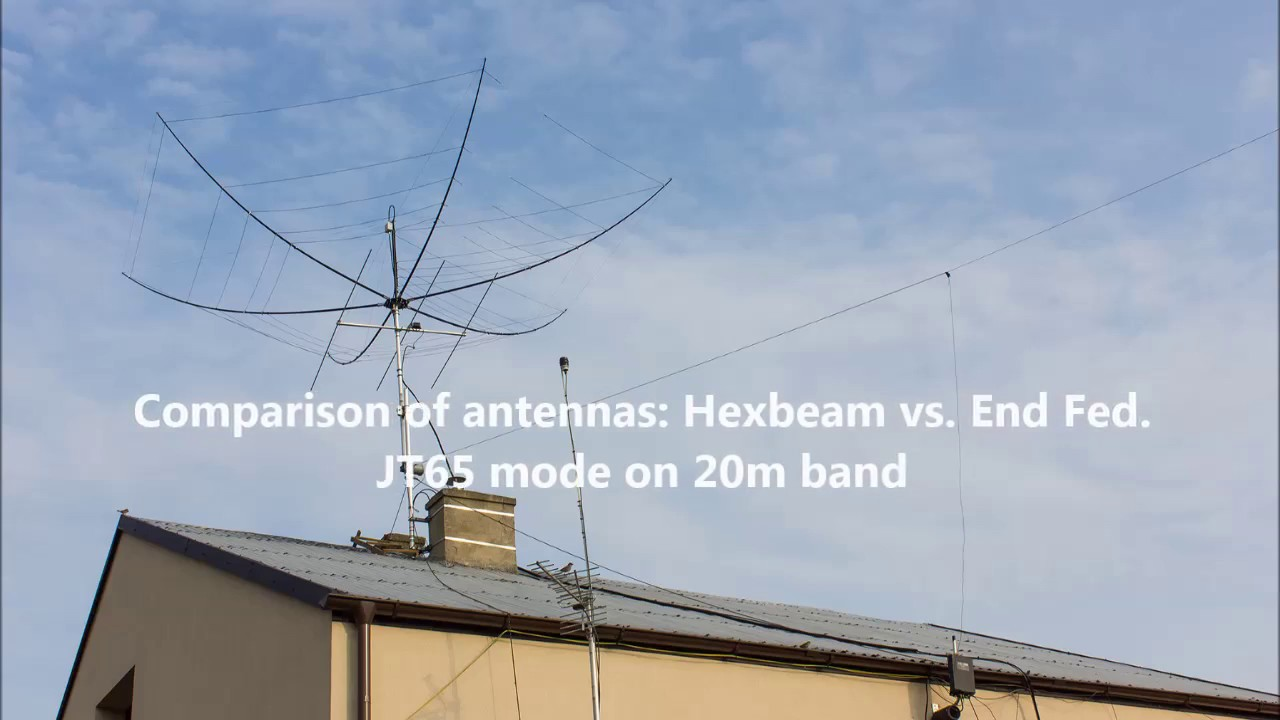 Comparison of antennas: Hexbeam vs  End Fed  JT65 mode on 20m
