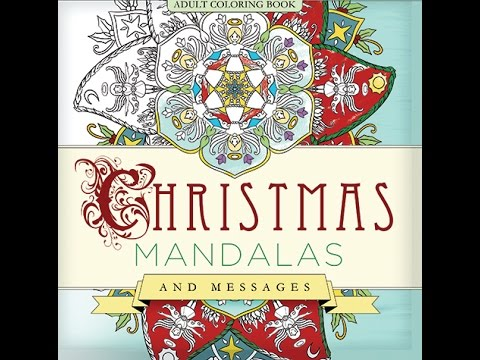christmas mandalas coloring book for adults youtube - Christmas Mandalas Coloring Book
