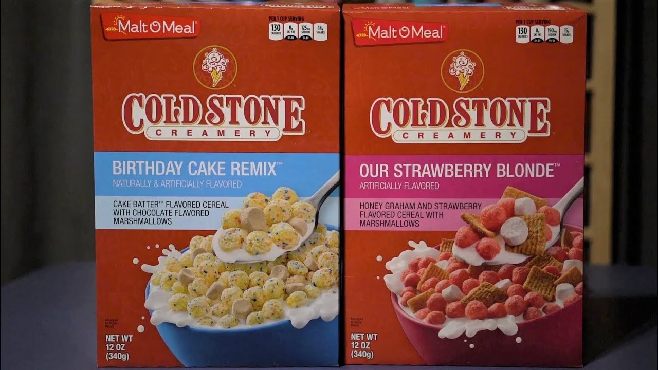 Ctc Review 203 Malt O Meal Coldstone Creamery Cereals Youtube