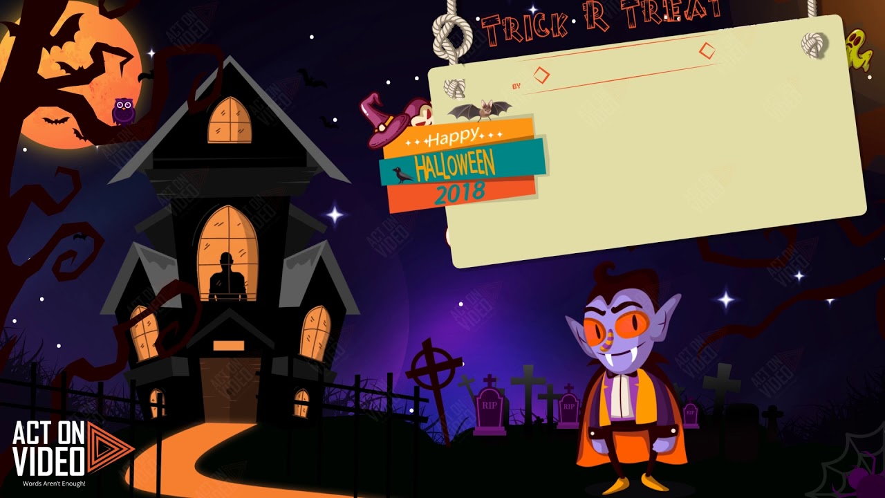 animated halloween promo video - 2d cartoon animation video