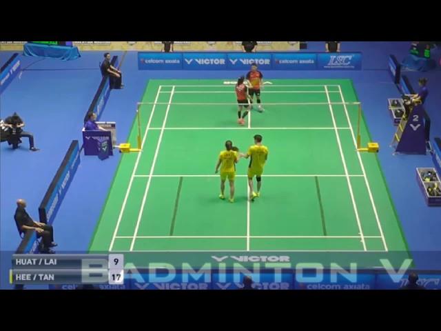 Badminton 2017 MalaysiaMaster   GOH Soon Huat LAI Shevon Jemie vs HEE Yong Kai Terry TAN Wei Han