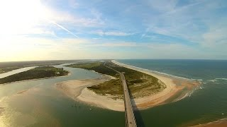 Matanzas Inlet Florida Yuneec Q500 Typhoon Aerial Drone Video