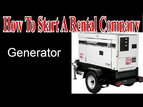 Generators - I Sub Rent - Start A Party Rental Company
