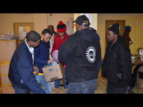 UAW Region 1A Distribute Sleeping Bag Drive to Homeless on MLK Day