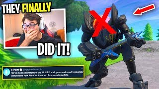 "Fortnite FINALLY ""REMOVED"" THE MECH... (best update ever)"