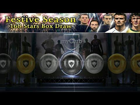 Festive Season 168 Stars Draw Box Opening Pes 2018 Mobile(Get two BLACK BALL)