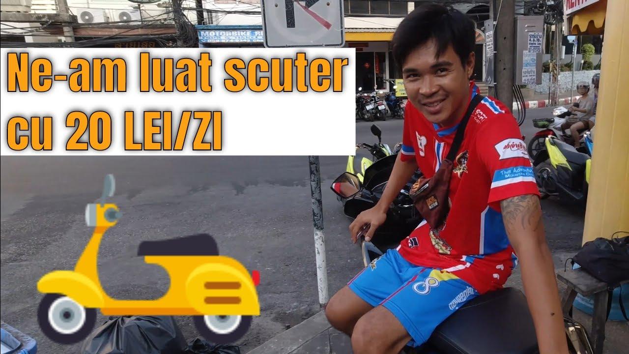 Cat costa sa inchiriezi un scuter in Phuket Thailanda ?