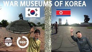 🇰🇷🇰🇵 360° North Korea vs South Korea: War Museums | Korea