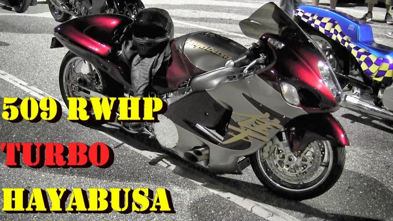 nasty !! 509 whp turbo hayabusa street bike - 7.90 @ 182 mph - 1/4