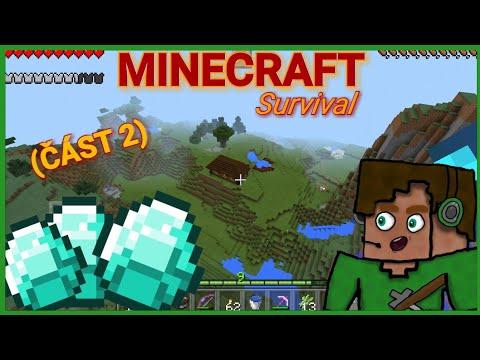 [Minecraft-Survival] - Čarovné diamanty !!  w/ Hruška (ČÁST 2)