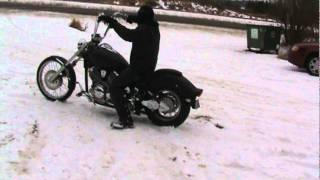 Winter Harley vs Yamaha
