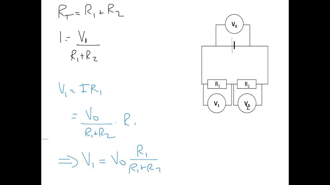 A Level Physics: DC Circuitry: Potential Divider Equations