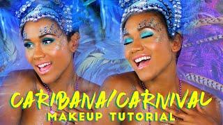 Caribana/Carnival Glitter Makeup Tutorial Summer | ShamelessMaya