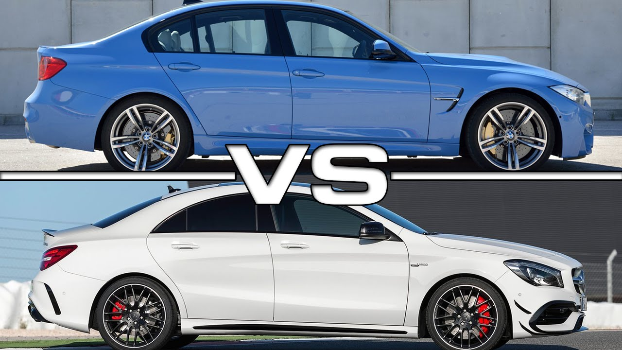 BMW M3 vs Mercedes CLA45 AMG on Racetrack - YouTube