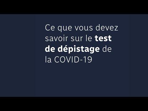 Covid-19: comment fonctionne le test de dépistage?