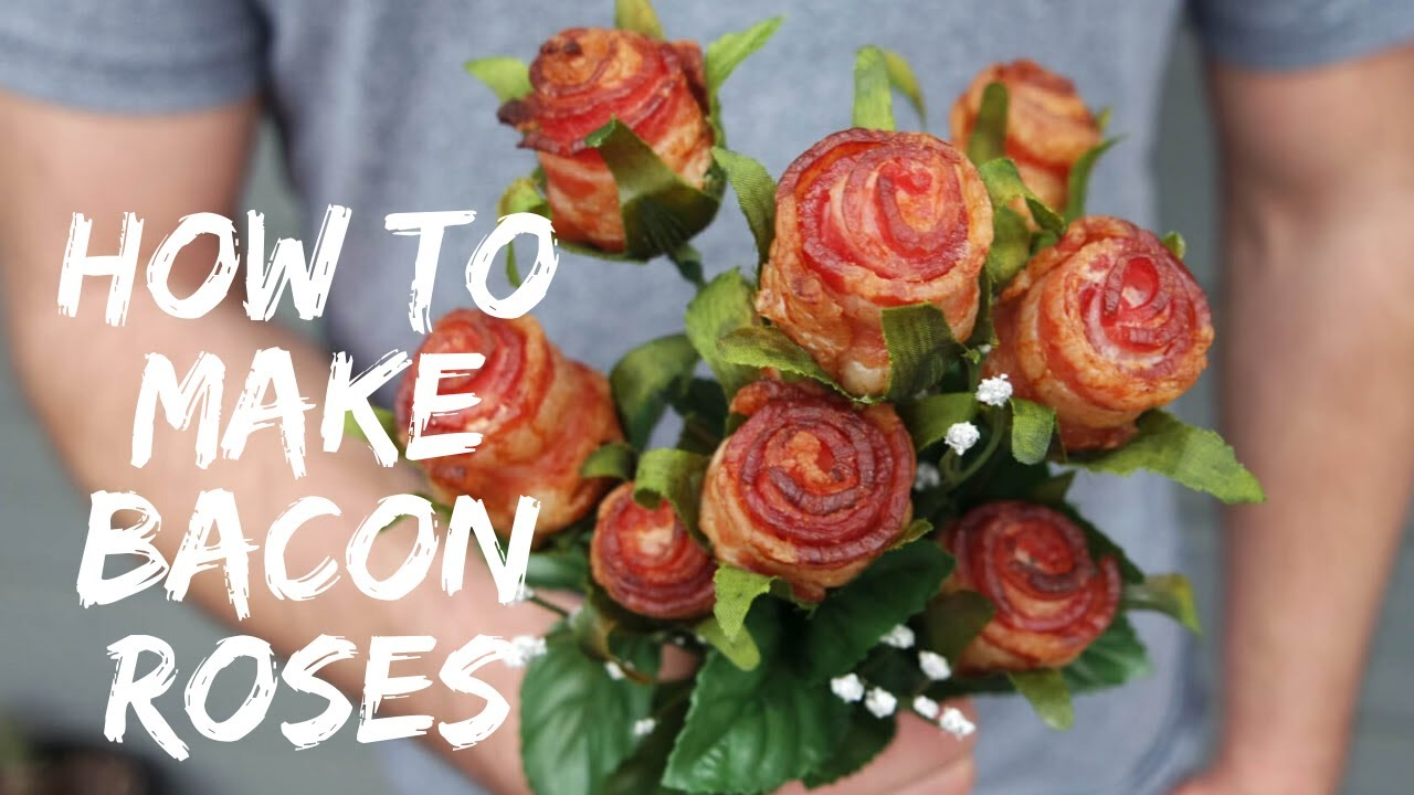 Diy Tutorial How To Make Bacon Roses Youtube