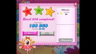 Candy Crush Saga Level 650 ★★★ NO BOOSTER