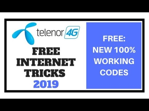 Telenor Free Unlimited Internet Trick 2019 Updated
