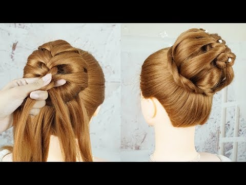 New Latest Juda Hairstyle With Donut - French Bun Hairstyle Trick | Party Hairstyle | Updo Hairstyle thumbnail