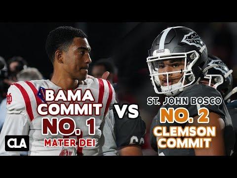 Alabama QB Commit GOES CRAZY! Mater Dei Vs St John Bosco Highlights   Bryce Young Vs DJ Uiagalelei