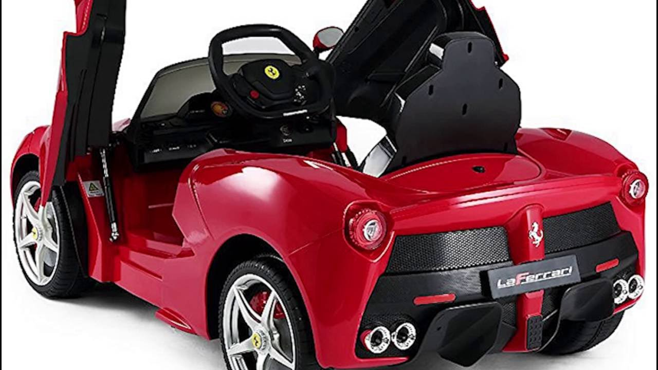 rastar 12v ferrari laferrari kids electric ride on car with mp3 and remote control red