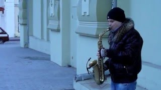 Песенка про черного кота, кавер на саксофоне, Одесса, Дерибасовская / Black Cat, Sax Cover, Odessa