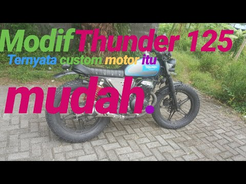 Thunder 125 Modif Japstyle Triumph Paling Murah Hasil Mantab