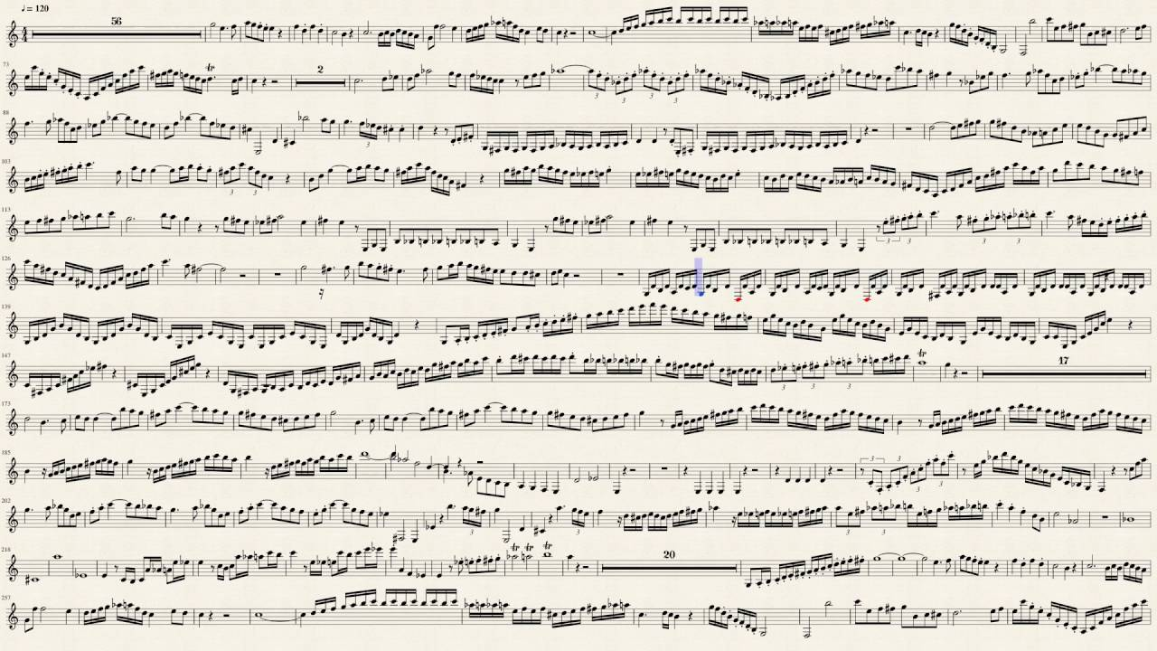 Mozart Clarinet Concerto in A major K 622 (1st Mvt) Sheet Music