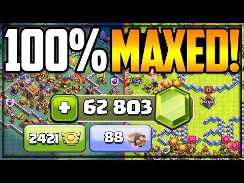62,800 GEMS Later BOTH Villages 100% MAXED In Clash Of Clans