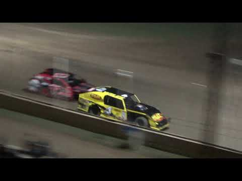 I.M.C.A. Heat Race #3 at Crystal Motor Speedway, Michigan, on 08-25-2018.